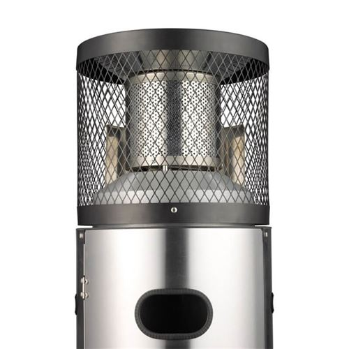 Gas Garden Patio Heater in Brushed Stainless Steel Polo Plus