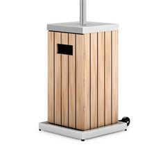 Gas Garden Patio Heater with Light Wood Base