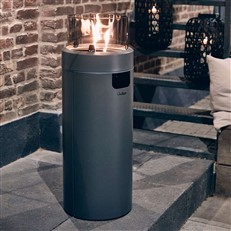 Large Grey Nova Freestanding Outdoor 30mb Gas Heater with LED Mood Lights