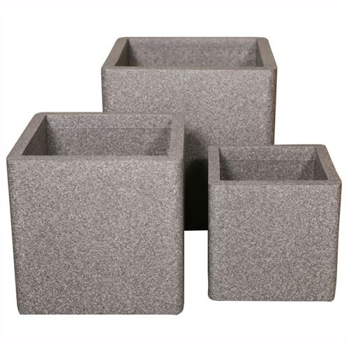 iQbana Set of 3 Graduated Square Planters