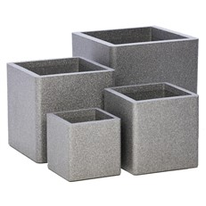 iQbana Set of 4 Graduated Square Planters