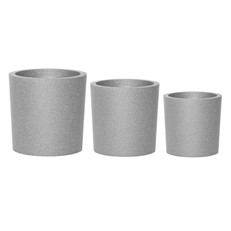 iQbana Set of 3 Graduated Round Planters