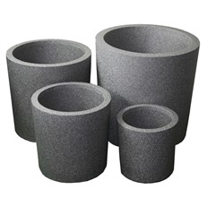iQbana Set of 4 Graduated Round Planters
