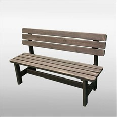 1.5m Pine Garden Bench in Grey