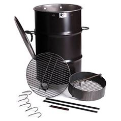Large Barrel BBQ Pit Smoker