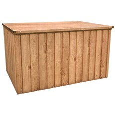 Outdoor Metal Storage Box with Oak Finish