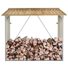Wood Effect Galvanised Steel Log Store