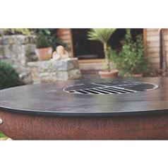 Remundi Nero Fire Bowl and BBQ Grill