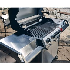Monroe Pro 4 SIK Turbo 4 Burner Gas BBQ Grill with Side and Infrared Burners
