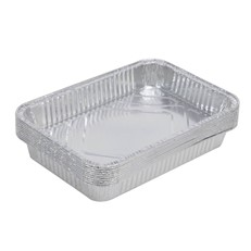 Disposable BBQ Aluminium Foil Drip Tray Pack of 10