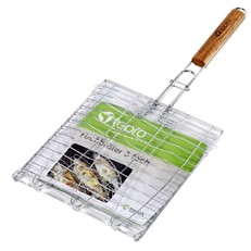 BBQ Grill Broiler Basket for 3 Fish