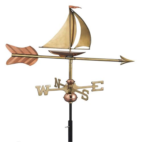 Sail Boat Cottage Weathervane
