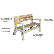 2x4 Any Size Chair or Bench