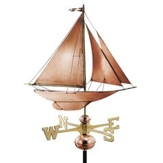 Racing Sloop Farmhouse Weathervane
