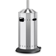 Gas Garden Patio Heater in Polished Stainless Steel Elegance