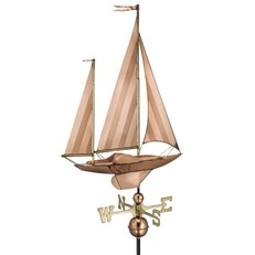 Sailing Boat Farmhouse Weathervane