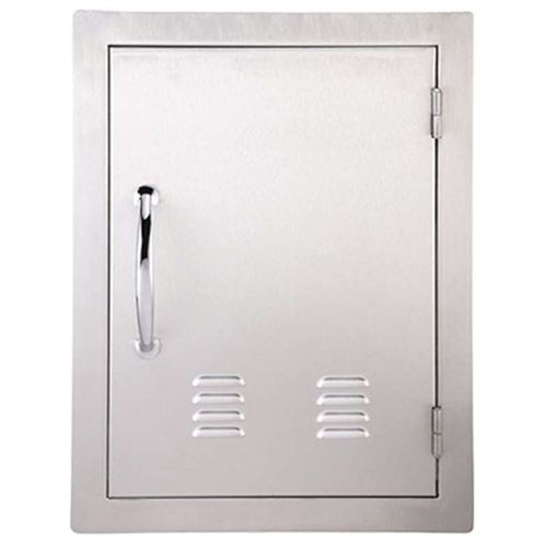 DIY Outdoor Kitchen Stainless Large Vertical Flush Mounted Door with Vents