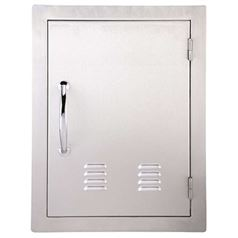 Large Vertical Flush Mounted Door with Vents