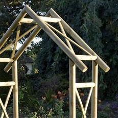 Rustic Natural Timber Garden Arch