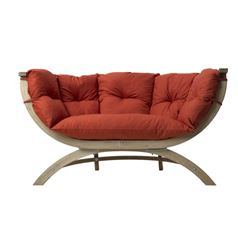 Siena Due Wooden Garden Sofa