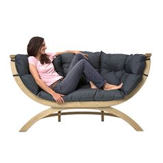 Weatherproof Siena Due Wooden Sofa