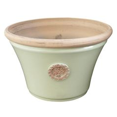 Seville Bowl Plant Pot in Serene Peridot