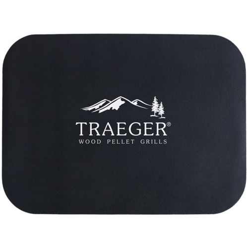 Traeger Grill Mat with White Logo