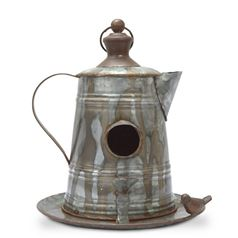 Ornamental Coffee Pot Bird Feeder