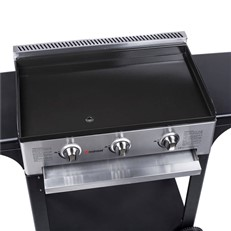 Gas BBQ Plancha 3 Burners with Trolley