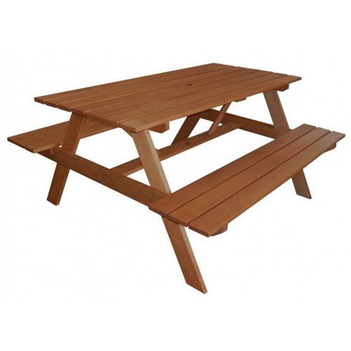 Hardwood Garden Picnic Table and Bench