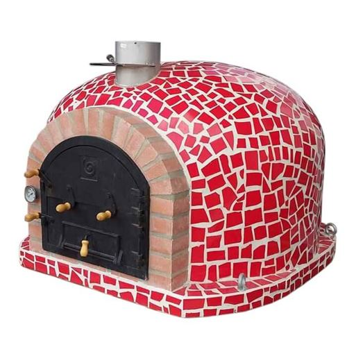Mosaic Effect Outdoor Wood Fired Pizza Oven