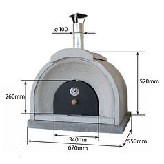 Traditional Outdoor Wood Burning Pizza Oven