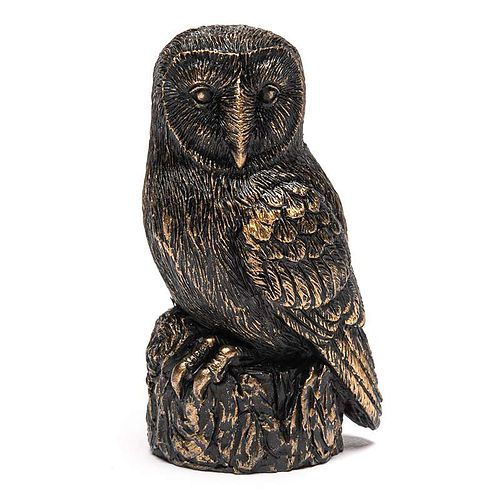 Antique Bronze Barn Owl Cane Companion