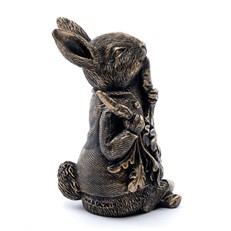 Beatrix Potter's Bronze Peter Rabbit Eating Radishes Cane Companion