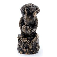 Beatrix Potter's Squirrel Nutkin Bronze Cane Companion