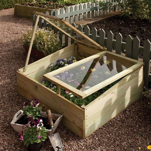 Timber Coldframe with Independently Opening Lids