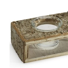 Shabby Chic Birch Tea Light Holder