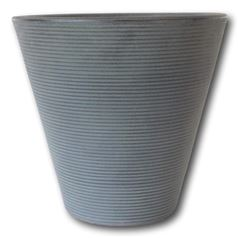 "Ribbed Cone Garden Planter 16"" Lightweight Pot"