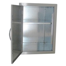 DIY Outdoor Kitchen Flush Mounted Stainless Larder Cupboard with Adjustable Shelf