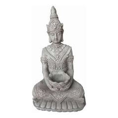 Kwan Yin Seated with Basket Ornamental Sculpture
