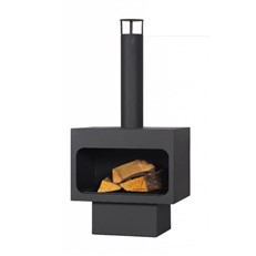 Arizona Outdoor Steel Fireplace with Chimney