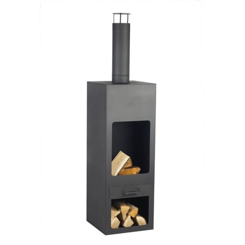 Kentucky Garden Fireplace in Black