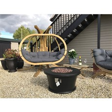 Foremost Black Dome Gas Fire Pit