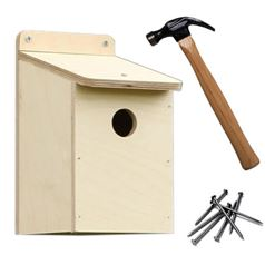 Bird Box Wooden DIY Kit with 25mm Hole