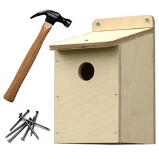 Bird Box Wooden DIY Kit with 32mm Hole
