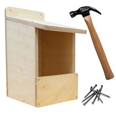 Bird Box Wooden DIY Kit with Open Front