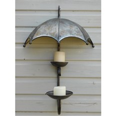 Decorative Garden Umbrella Candle Holder