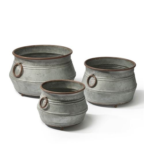 Fitzwilliam Round Garden Planters Set of 3