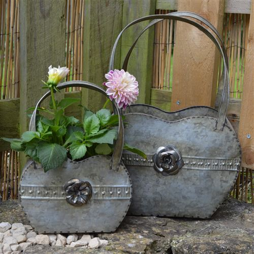 Pair of Garden Handbag Planters