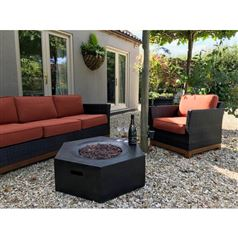 Foremost Outdoor Hexagon Gas Fire Pit Table